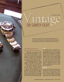 iW Vintage Watch Article