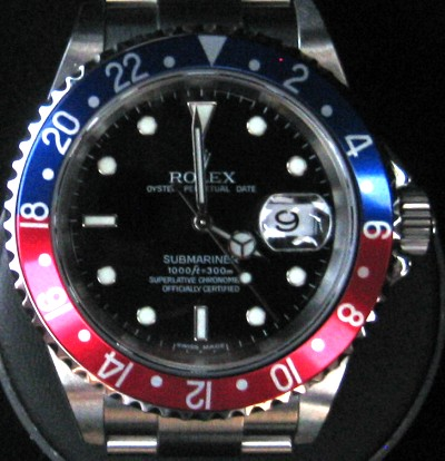 Rolex Watch Cyclops GMTII Submariner