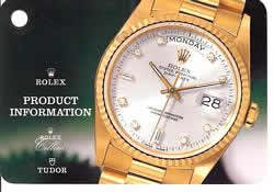 Rolex Product Information Cover